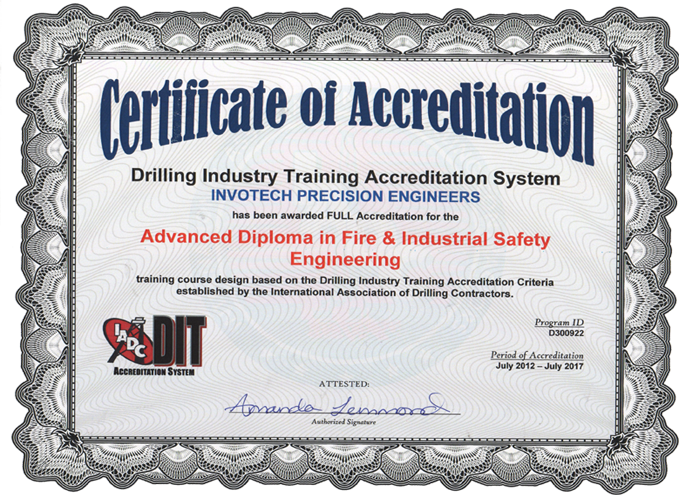 Advanced Diploma Fire Amp Industrial Safety Engineering